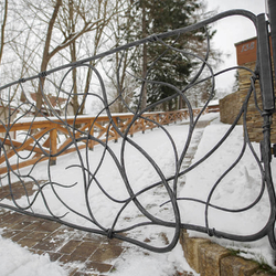 A luxury hand-forged gate