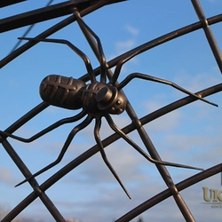 A wrought iron 'Mr Spider'