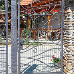 A wrought iron gate - The Nature Park