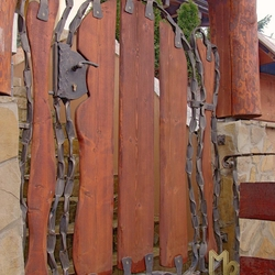 A wrought iron gate - even the Flinstones would be envious