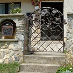 A wrought iron gate - luxury, vine