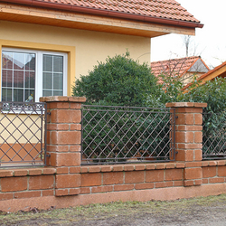 A wrought iron fence - A modern fencing