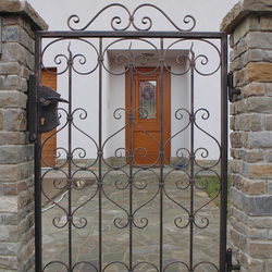 A wrought iron gate - A simple gate design