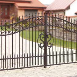 A wrought iron gate