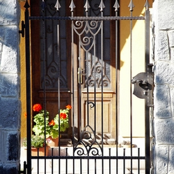 A wrought iron gate - a historic pattern replica